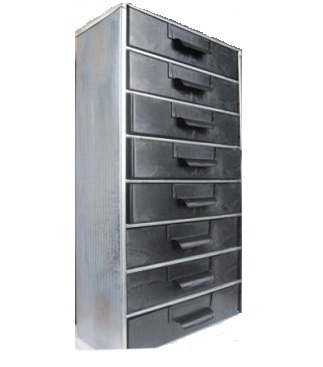 Flambeau 6777CC (3080) 8 Drawer Conductive Parts Storage Cabinet   Metal  Frame