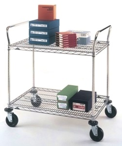 18 X 30 Wire Shelving | Metro Mw603 2 Shelf 18x30 Utility Cart